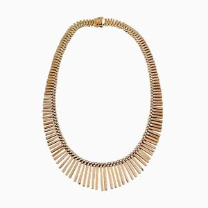 14K Gold Jos Kahn Modern Danish Design Necklace, 1970s