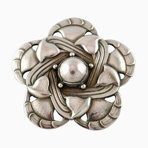 Spilla Art Nouveau numero 12 di argento di Georg Jensen