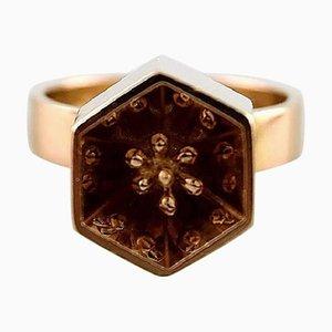 Moderner Ring aus 14 Karat Gold von Pal Henrik Storm, Kopenhagen, 1970er