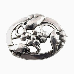 Art Nouveau Brooch in Silver from Georg Jensen