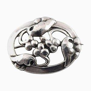 Jugendstil Silber Brosche von Georg Jensen