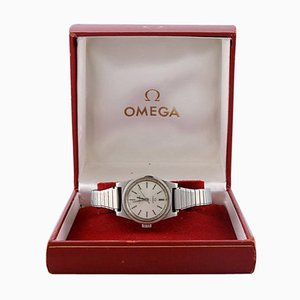 Geneva or Geneve Ladies Silver Dial Watch with Original Box by Omega, 1972