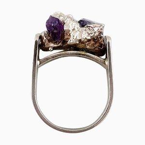 Dänischer Ring aus Sterlingsilber von Willy H. Jacob Krogmar, 1960er
