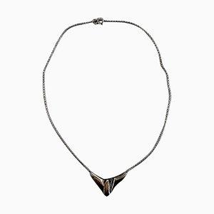 Necklace Sterling Silver Modern Danish Design von NE From, 1970s
