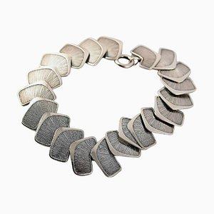 Scandinavian Modern Silver Stamped Bracelet