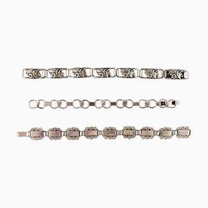 Danish Modern Bracelets in Silver Stamped 830S, Set of 3