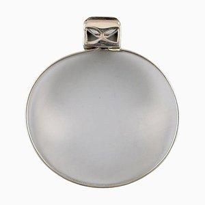 Modernist Bracelet in Sterling Silver with Mountain Crystal by Åke Lindström, 1974