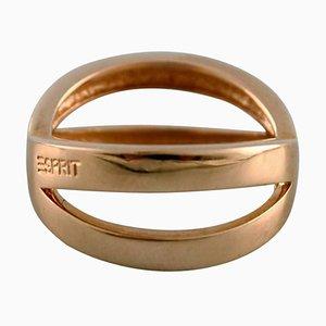 Modern Esprit Ring of 14 Karat Gold