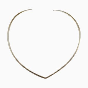 Sterling Silver Neck Ring Danish Design by N.E. From, 1970s