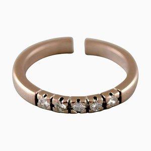 Surel Ring aus 14 Karat Weißgold mit 5 Diamanten im Brilliantschliff