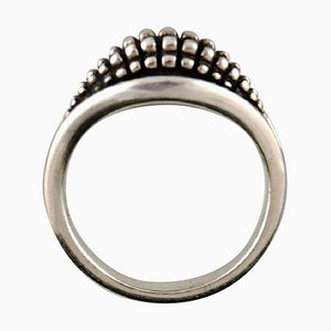 Gestanzter Sterling Silber Ring Modell 425 von Georg Jensen, 1940er
