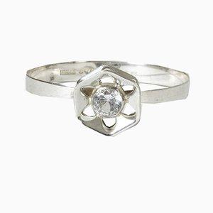Pulsera de plata y cristal de Theresia Hvorslev para Alton