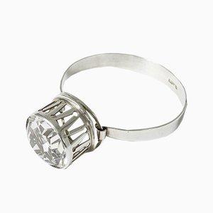 Silber und Bergkristall Armband von Kaplans, 1967