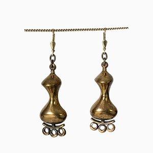 Bronze Ohrringe von Jorma Laine für Turun Hopea, 1970er, 2er Set