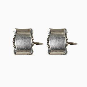 Silver Cufflinks from Gustaf Dahlgren & Co, 1950s, Set of 2