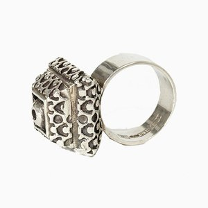 Silberner Ring von Pentti Sarpaneva für Turun Hopea, 1967