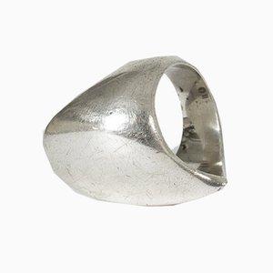 Silberner Ring von Nanna Ditzel für Georg Jensen, 1960er