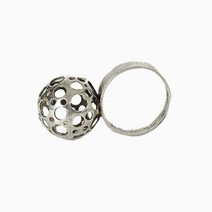 Silberner Marienkäfer Ring von Liisa Vitali für Nesto, 1970er