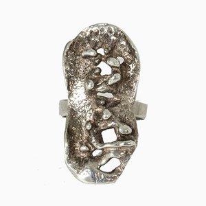 Silberner Ring von Erik Granit, 1971