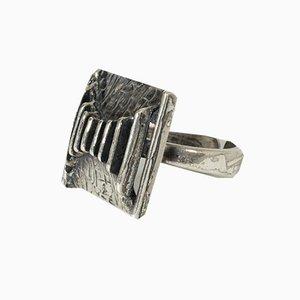 Silberner Ring von Theodor Klotz für Pforzheim, 1970er