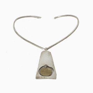 Cuello de plata de Bent Gabrielsen Pedersen para Hans Hansen, años 60