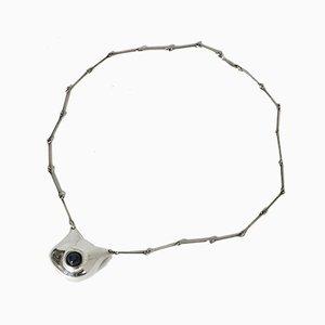 Halskette aus Silber & Labradorit von Björn Weckström für Lapponia, 1980er