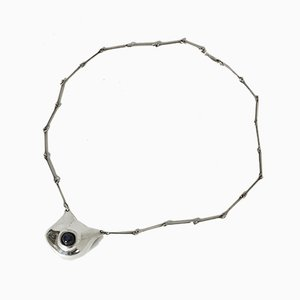 Silver and Labradorite Necklace by Björn Weckström for Lapponia, 1980s