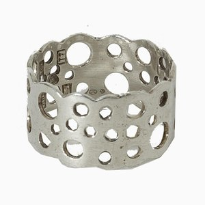 Silver Pitsi Ring by Liisa Vitali for Nesto, 1972