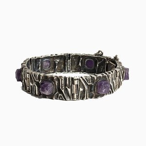 Silver and Amethyst Bracelet by Pentti Sarpaneva for Turun Hopea, 1973