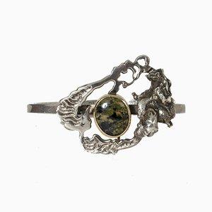 Silber und Naturstein Armband von Olle Ohlsson, 1968