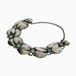Bracelet en Argent et Turquoise par Gertrud Engel pour Michelsen, 1950s