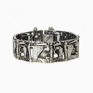 Silver Bracelet by Jorma Laine for Turun Hopea, 1974