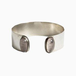 Armband aus Silber und Rosenquarz von Olavi Henrik Risku für Hovisepät Oy, 1959