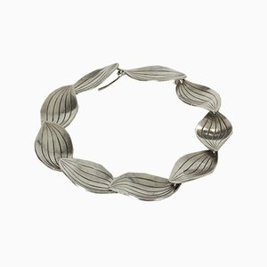 Silver Leaves Bracelet by Sigurd Persson for Stigbert, 1950s
