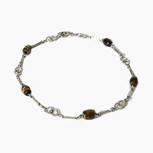 Silver and Tiger Eye Collier by Arvo Saarela, 1969