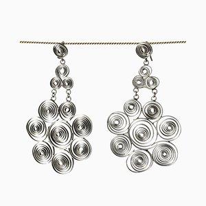 Silberne Pfoten Ohrringe von Liisa Vitali, 1968, 2er Set