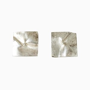 Silver Earrings by Björn Weckström for Lapponia, 1973, Set of 2