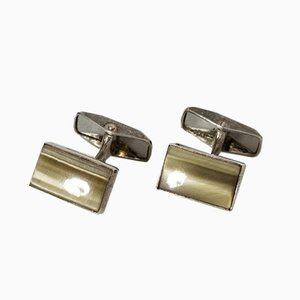 Silver and Agate Cufflinks from Erik Granit, Set of 2