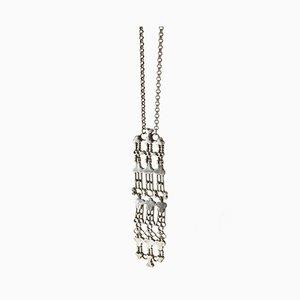 Kinetic-Silber-Halskette Anhänger von Marianne Berg für Uni David Andersen, 1960er Jahre