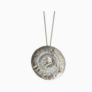 Plata y Roca colgante collar de cristal de Alton, 1972