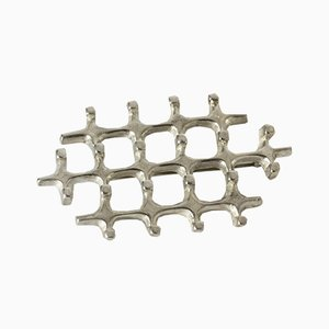 Silver Brooch by Marianne Berg for Uni David Andersen, 1960s
