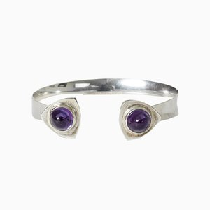Silver and Amethyst Bracelet by Elis Kauppi for Kupittaan Kulta Oy, 1960s