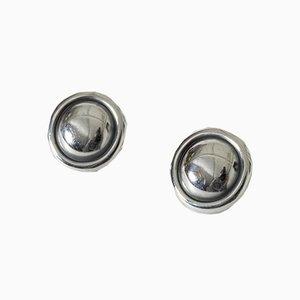 Silver Earrings by Karl-Gustav Hansen for Hans Hansen, 1940s, Set of 2