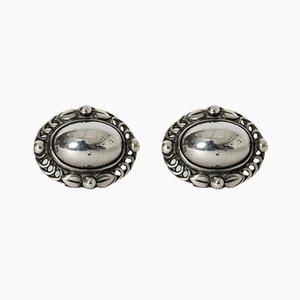 Silberne Ohrringe von Georg Jensen, 2er Set