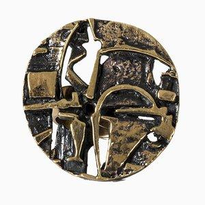 Bronze Ring von Jorma Laine für Turun Hopea, 1970er