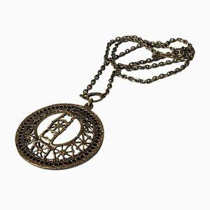 Bronze Pitsi Halsketten-Anhänger von Pentti Sarpaneva für Turun Hopea, 1970