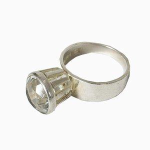 Ring aus Silber und Bergkristall von Alton, 1968