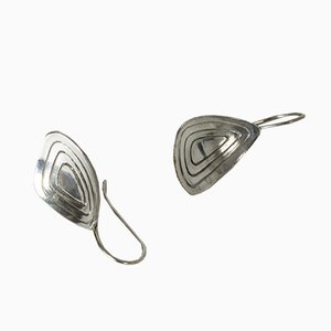 Silver Earrings from Alton, 1957, Set of 2