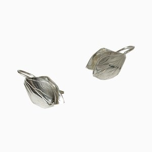 Silver Earrings by Gertrud Engel for Michelsen, 1953, Set of 2