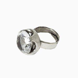 Finnischer Mid-Century Kristallglas Ring von Raimo Keskinen, 1970er